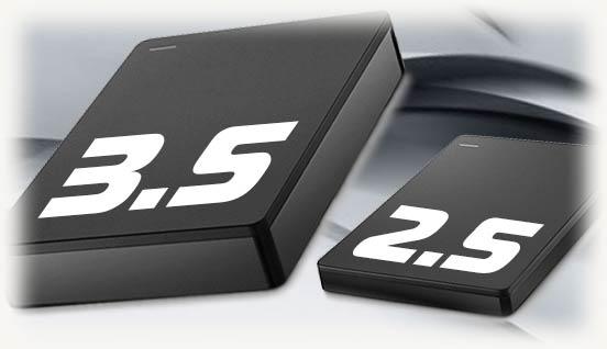 Внешние боксы для диском 3.5 и 2.5 дюйма