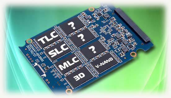 Типы чипов памяти для SSD