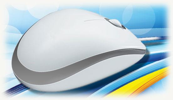 Бело-серая мышка для PC