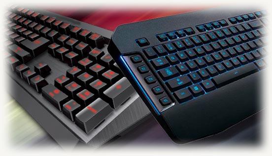 мембранная клавиатура и механическая