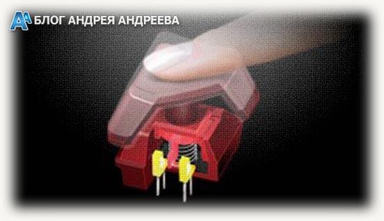 Полумеханический вариант переключателя в клавиатуре