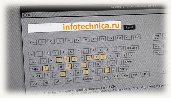 сервис для проверки работоспособности клавиатуры