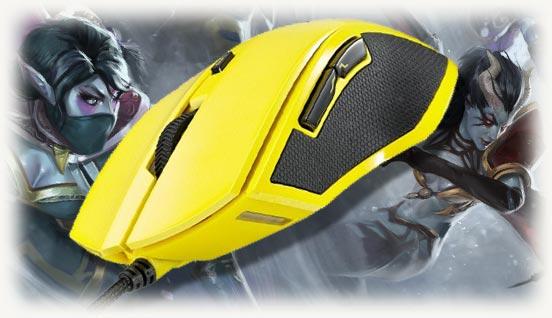 Модель мышки rapoo желтого цвета