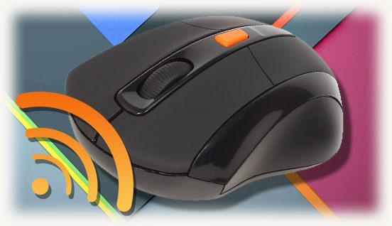 Мышка и беспроводной символ связи