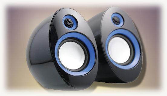 Пара аудио колонок для компьютера