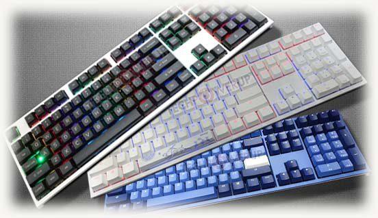 три клавиатуры серии Shine от Dunky Channel