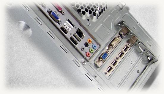 задняя панель компьютера где располагаются разъемы подключения