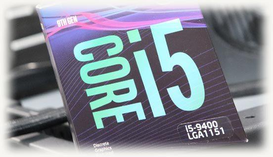 CPU intel i5-9400