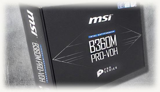 Коробка материнской платы msi b360 pro vdh