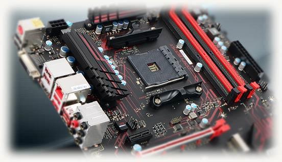 Красно-черная материнская плата для amd процессора