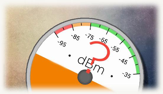 Шкала сигнала Wi-fi c вопросительным знаком