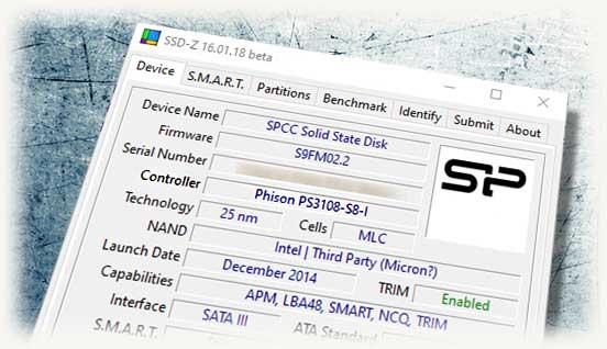 Узнаем контроллер ssd через SSD-Z