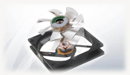 Корпусной вентилятор вид снятых лопастей