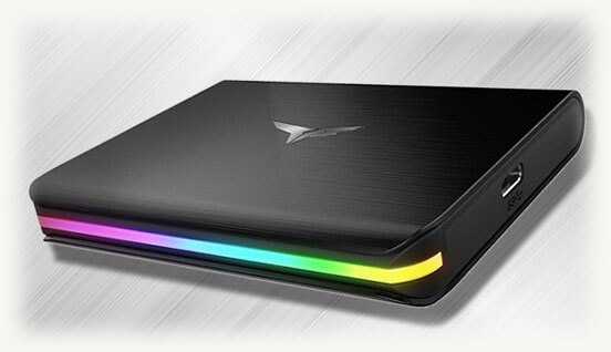 T-FORCE TREASURE Touch с RGB-подсветкой внешний твердотельный накопитель