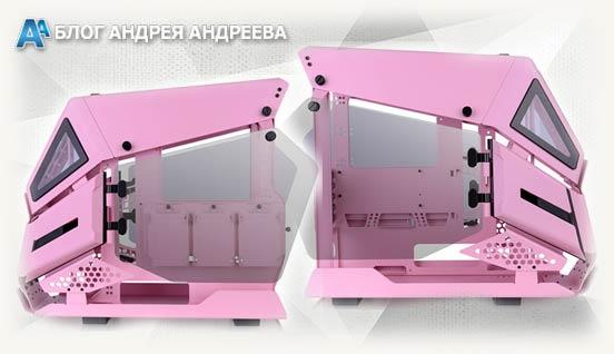 AH T200 розовый вид с двух боковых сторон