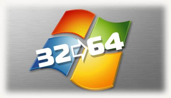 Из 32 в 64 битную версию windows 7