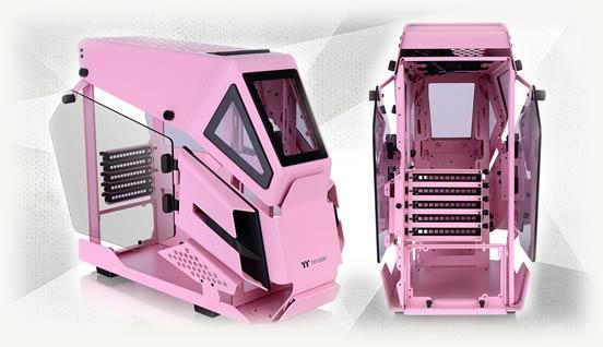 Thermaltake AH T200 розовый вид сзади и общий вид