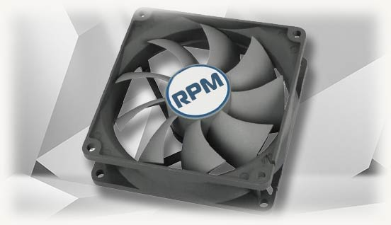 Компьютерный вентилятор с надписью RPM