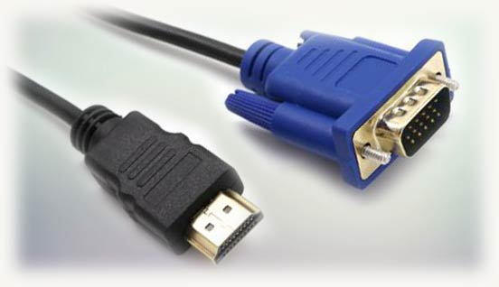 Vga и hdmi разъемы на проводах