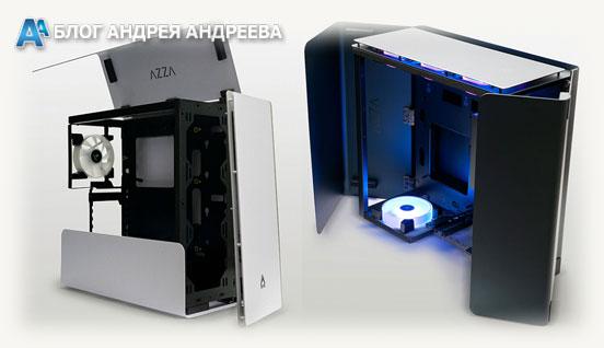 CAST AZZA вид с распахнутыми дверцами и в разных положениях
