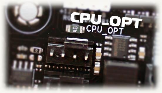 Разъем Cpu Opt на материнской плате