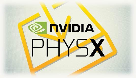 Знак установки и логотип PhysX