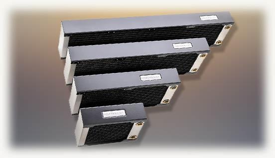 Четыре радиатора темного цвета серии HEATKILLER RAD