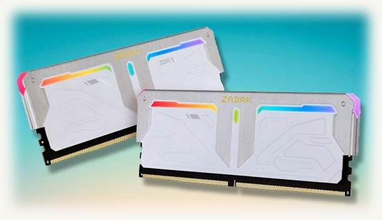 DRAM-модули DDR5 от ZADAK белого цвета