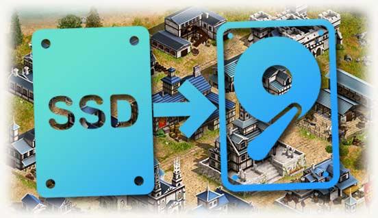Перенос с SSD на HDD на фоне игры
