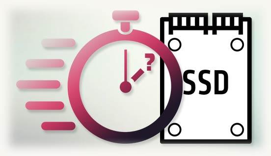 Логотип SSD с часами времени