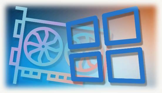 Логотип windows 10 и видеокарты