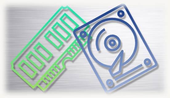 Логотипы HDD и OZU