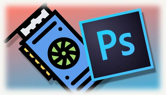 Видеокарта и логотип Photoshop