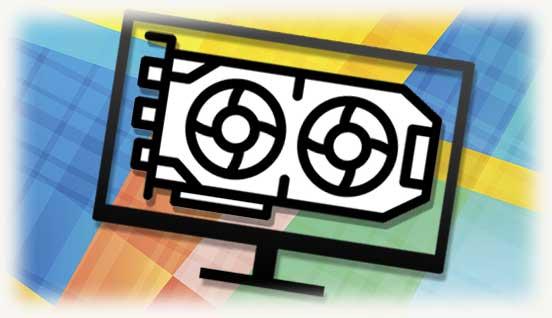 Видеокарта и монитор - логотипы